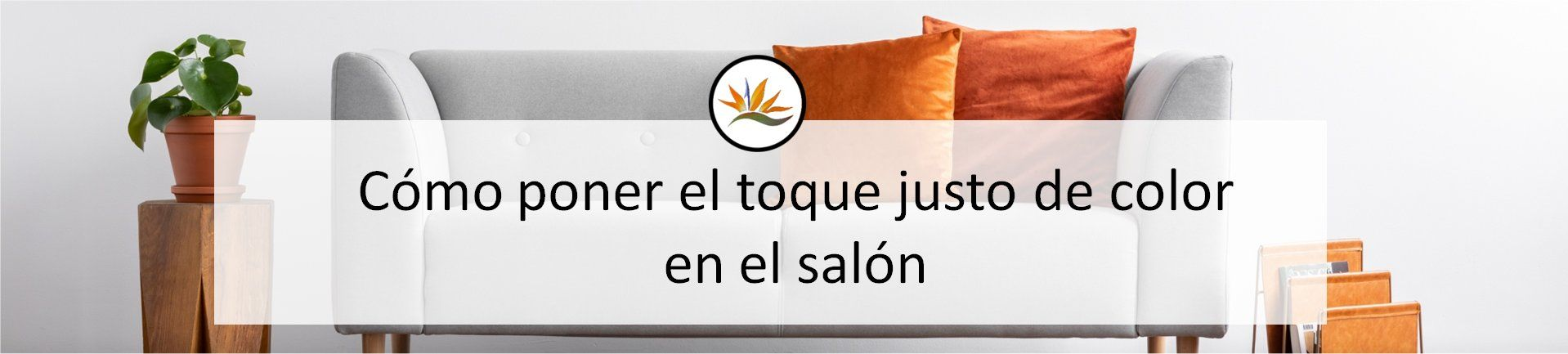 cabecera toque justo de color en el salon