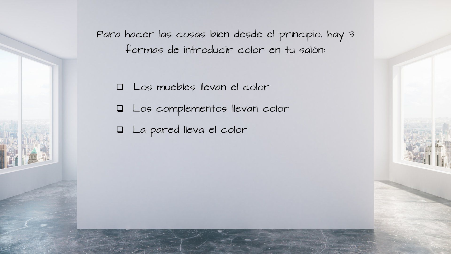 como decorar con color