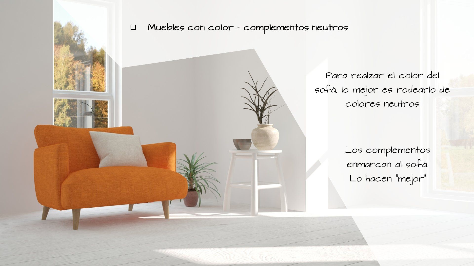 muebles con color